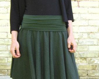Organic Cotton & Hemp Short Circle Miniskirt