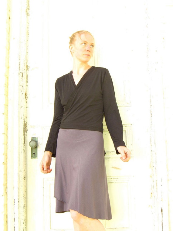 8842b88c07b Organic Cotton Long Sleeved Wrap Cardigan Custom Made