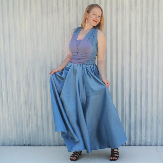 Black Made to order in ANY SIZE Convertible Maxi Bridesmaids Dress Red or Natural Silk Infinity Dress Purple Custom Made in Blue