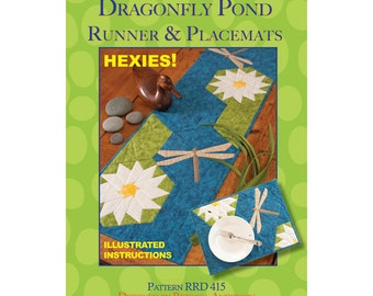 Dragonfly Pond Runner & Placemat sewing pattern