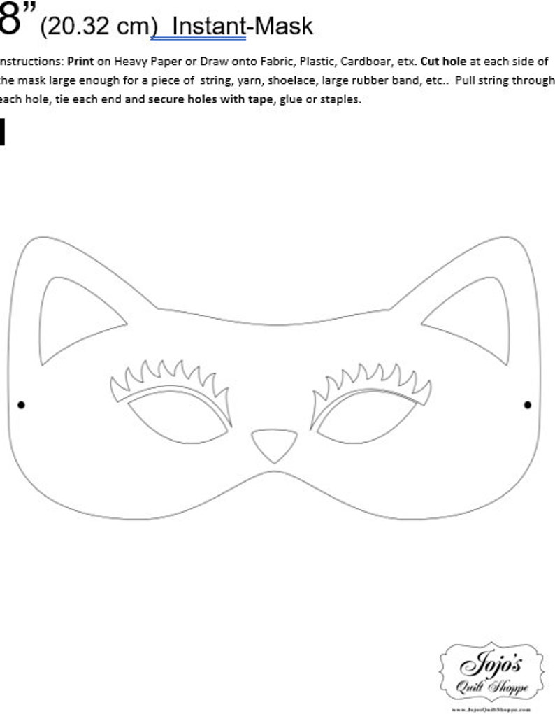 One Dollar Adobe PDF Download and Unlimited Print MASK-Cat_7 image 0