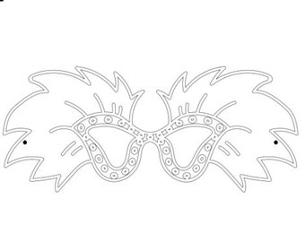 """One Dollar Adobe PDF Download/Unlimited Print! MASK-Halloween_5   8"""" Trace, Template, Guide, Color, Cut-out, Applique,Silhouette"""