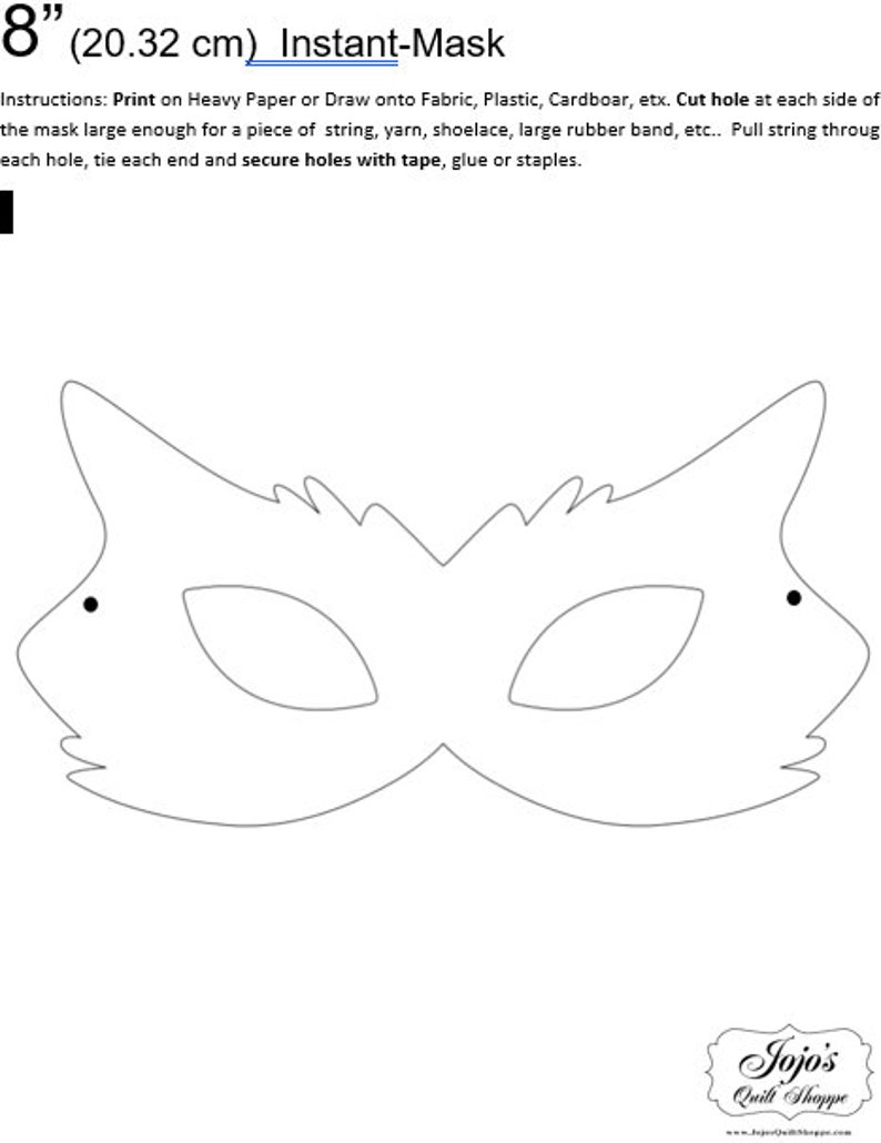 One Dollar Adobe PDF Download and Unlimited Print MASK-Cat_9 image 0