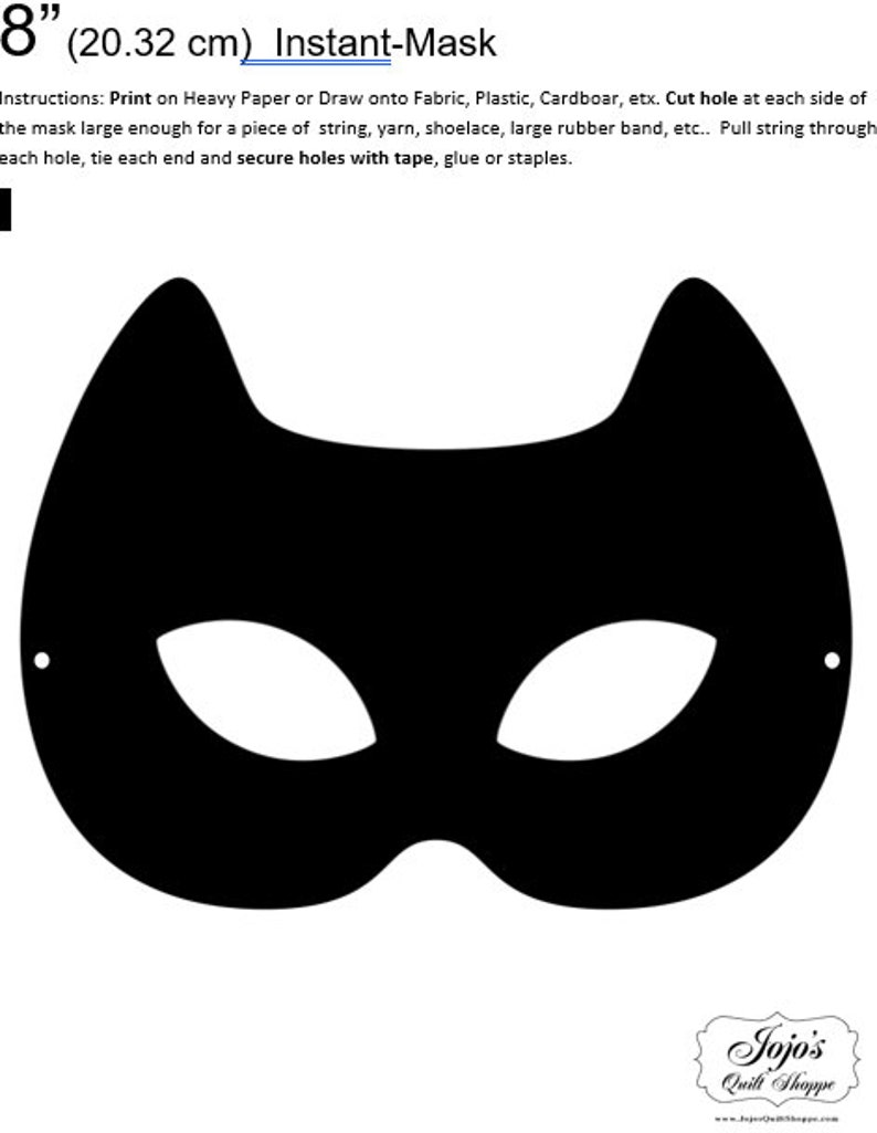 One Dollar Adobe PDF Download and Unlimited Print MASK-Cat_6 image 0