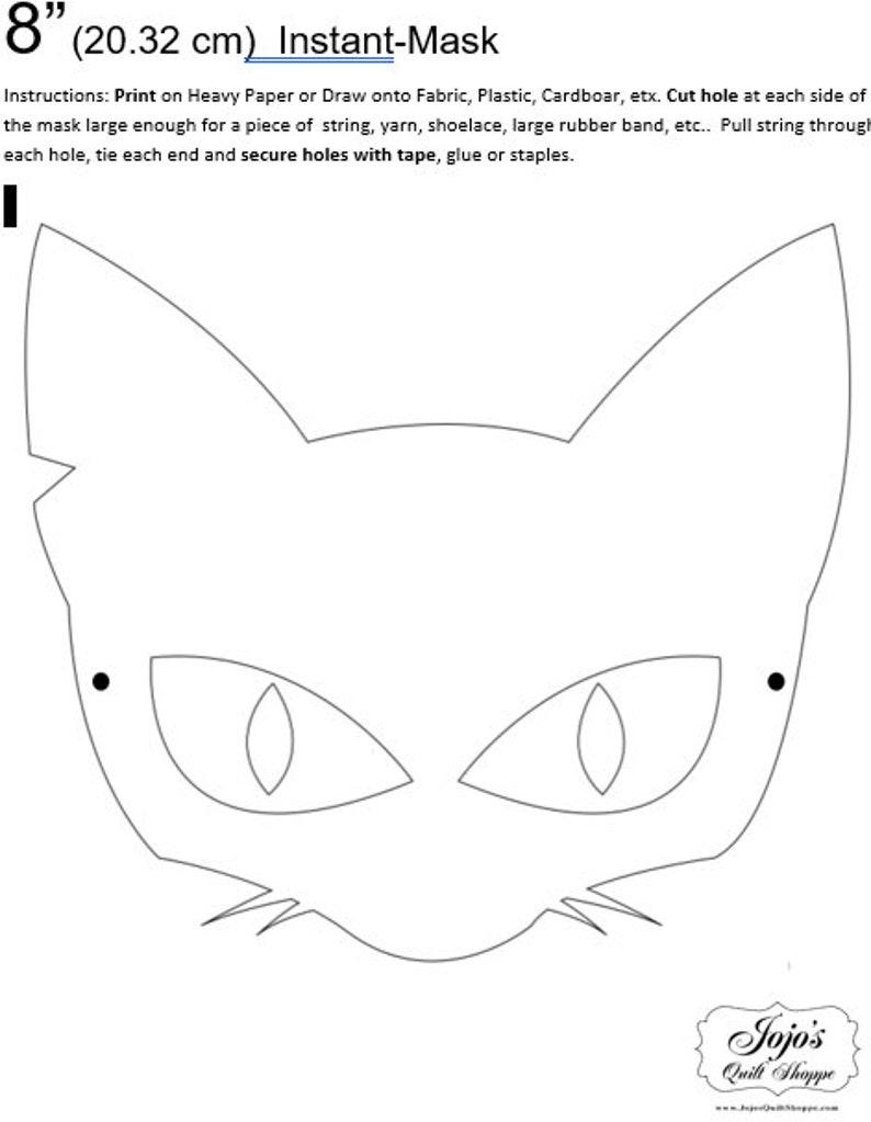 One Dollar Adobe PDF Download and Unlimited Print MASK-Cat_3 image 0