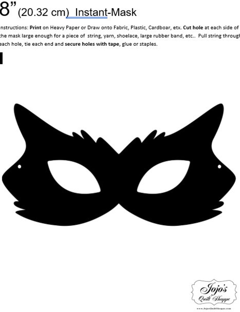 One Dollar Adobe PDF Download and Unlimited Print MASK-Cat_10 image 0