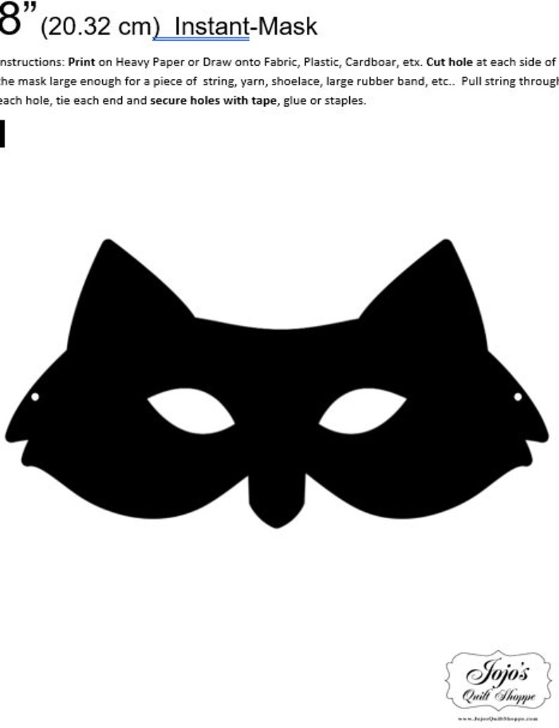 One Dollar Adobe PDF Download and Unlimited Print MASK-Fox_2 image 0
