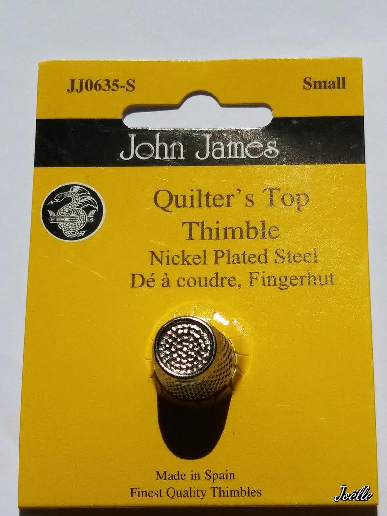 John James Thimble Nickel Plated Steel Crimp Top Sizes: Small image 0