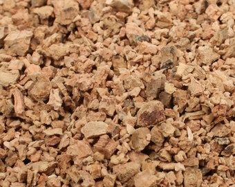 Tan Cork Chips - Imported from Germany  - 1oz or 1lb Bulk -  Terra Textures - 311-0054 - Landscape Model/Diorama/Fairy Garden/Craft