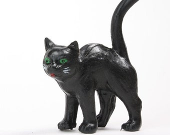 """Halloween Black Cat - 2"""" - German - Scary Witches Black Cat Kitten - Set of 1 - 149-0140"""
