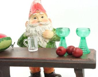 "Set of Four Hand Painted German 800-2613 Railway Gnomes 1/"" Mini Elf/'s"