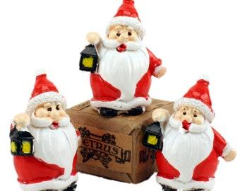 Santas - Old Style Figures- Set of 3 miniature santas christmas decor santa diorama santa figurine set of santas - 204-2581