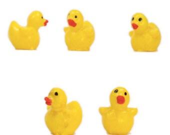 Tiny Baby Ducks - 8 Pcs - 802-0835 - Ideal for Fairy Garden Decor/Diorama Models/Dollhouse Decor/Miniature Animals/Miniature Creatures