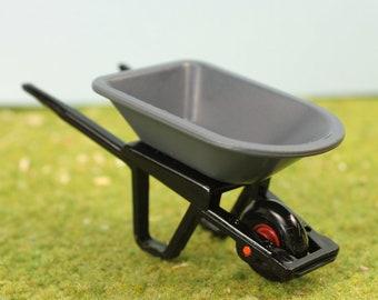Plastic Wheelbarrow - Miniature - Model Railroad - Slot Cars - G Scale - 106-17012