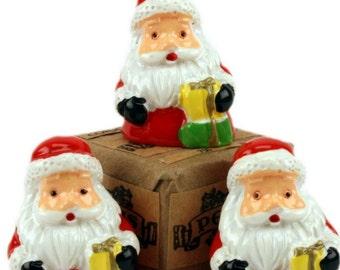 Santas -Half Bust Figures - Set of 3 miniature santas christmas decor santa diorama santa figurine set of santas - 204-8803