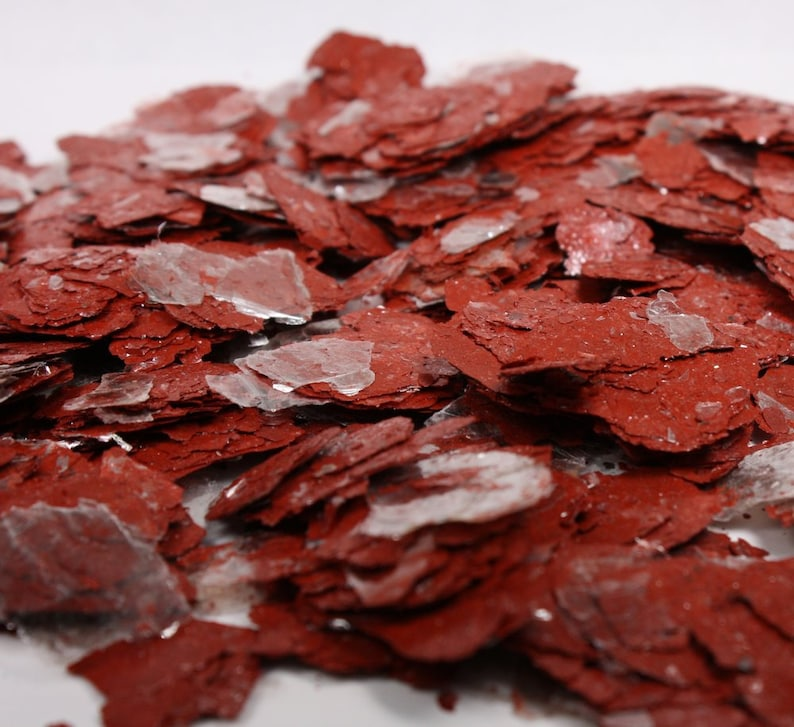 Mica Terracotta  LARGE FLAKES  CHIPS  Natural Mica   1 image 0