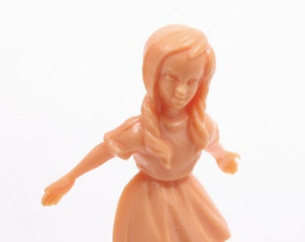 "Die-cast Figures-Dancing Little Girl/Plastic Figures/Diorama Figures/Fairy Garden Decor/Modelling/Crafts- 1 3/4"" Tall - Set of 3 - 203-3-088"