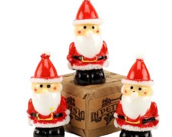 Santas - with Rosy Cheeks - Set of 3 miniature santas christmas decor santa diorama santa figurine set of santas - 204-8801