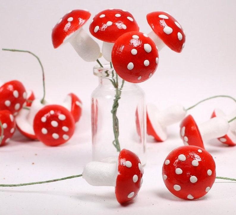 Mega Mix  Red Mushrooms 144 pcs  Vintage Spun Cotton  image 0