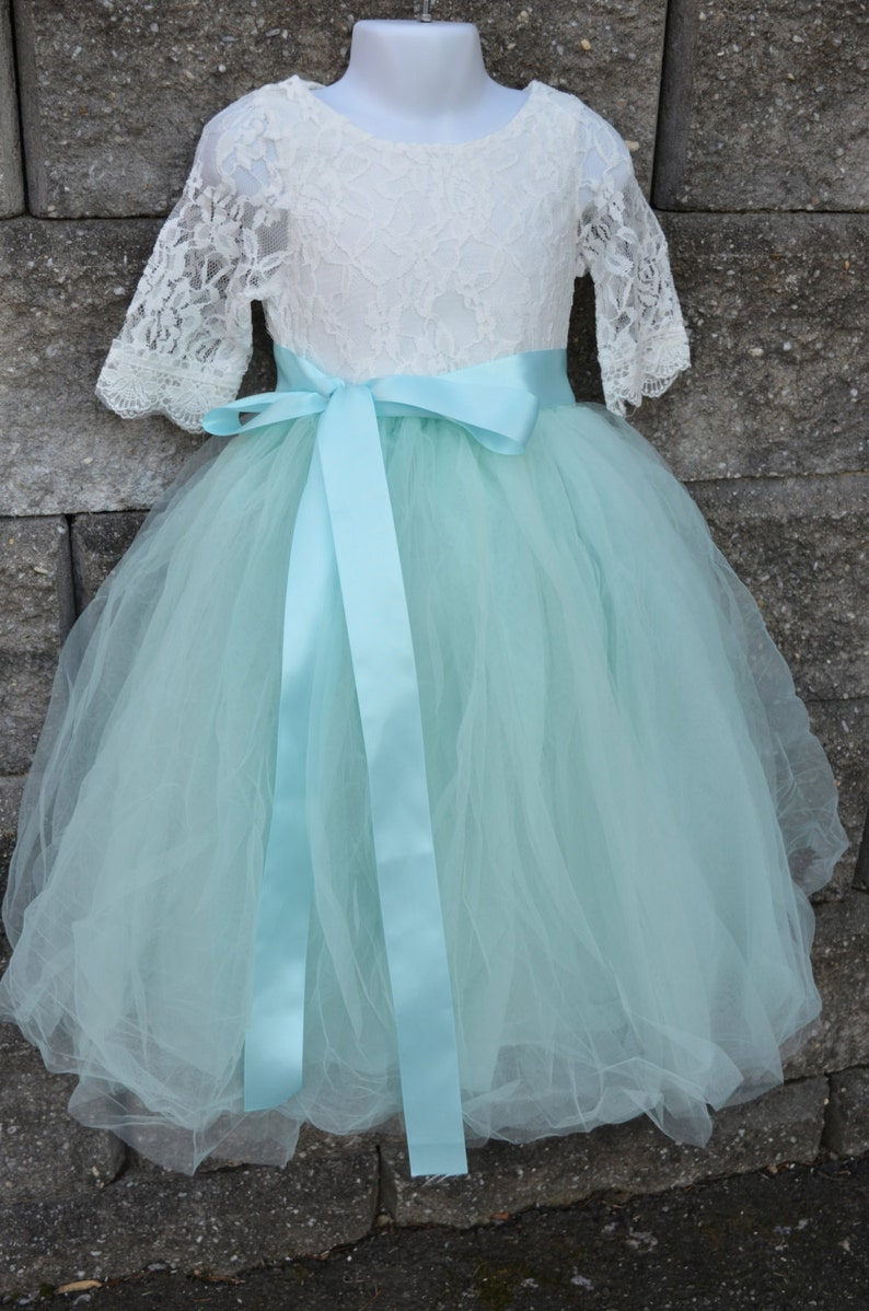 ab5e344af7 Ready to Ship Aqua Mint Long Sewn Tulle Skirt Aqua Tutu | Etsy