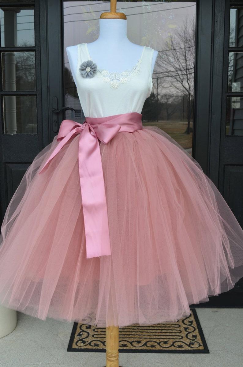 de8a4c6cca Dusty Pink Tutu Rose Pink Tulle skirt Mauve Pink tutu | Etsy