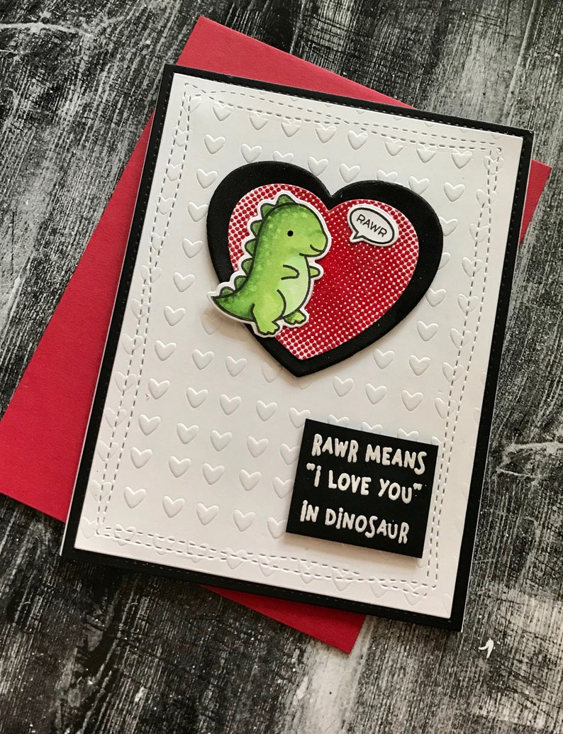 Rawr Means I Love you Greeting card image 0