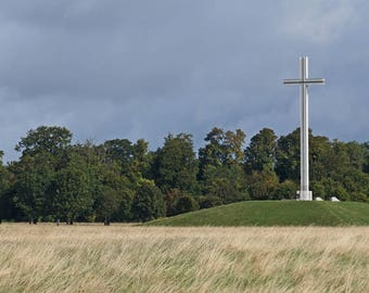 Phoenix Park, Ireland Phtography, Dublin Landscape, Cross Decor, Wall Art, 8  x 10 Photo