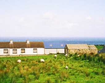 Farm By The Sea, Fine Art Ireland Photography, Irish Farm, Seaside Cottage, Wall Art, Landscape Print