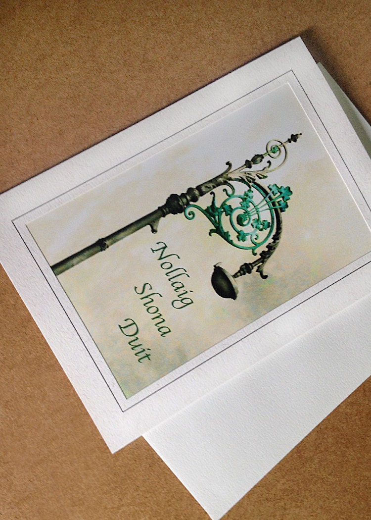 Irish Language Christmas Card Nollaig Shona Duit Merry   Etsy