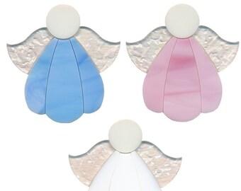 """Cute! Precut ANGEL 96 COE Glass CHOICE Christmas 2 5/8"""" Fusing Blue White Pink"""