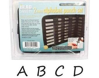 Beadsmith Upper Case Handwritten Metal Elements Stamp Set 2mm A-Z + & LPS013 Stamping