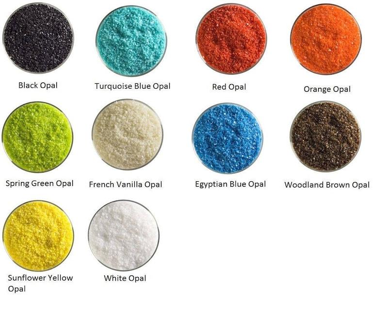 90 Coe 5 Oz Red Opal Powder Frit