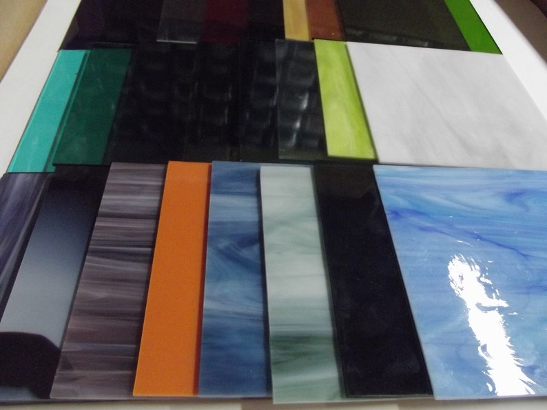 24 Glass Sheets System 96 COE About 6x6 Variety Pack Studio Fusing Supplies OGT
