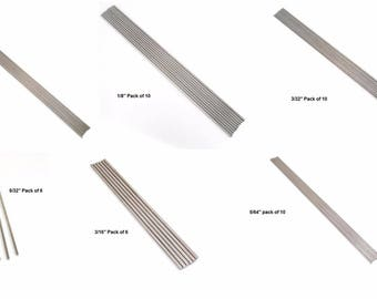 """10 & 12"""" Stainless Steel Bead Mandrels 1/16 1/8 3/32 5/32 3/16 5/64 inch CHOICE"""