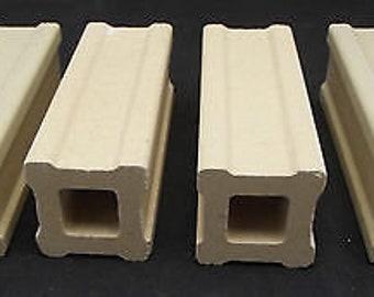 Set of FOUR Kiln Posts 4 X 1 in Fusing Furniture Slump Supplies Durable Ceramic