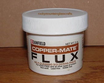 Copper-Mate Paste Flux Canfield Stained Glass Supplies Soldering 2 oz ORMD