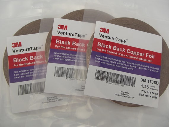 value pack 7//32 inch Venture Black Backed Copper Foil 3 Rolls