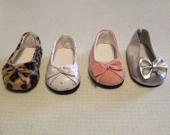 Leopard flat shoes to fit American Girl dolls
