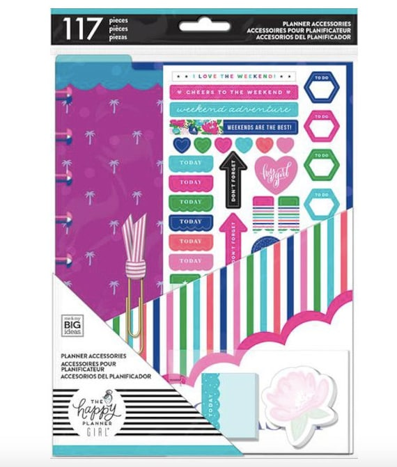 SOCIALITE - The Happy Planner Girl - Planner Accessories Pack | 117 pieces  | CLASSIC