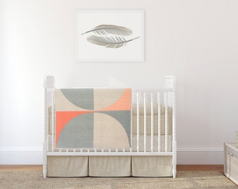 Fresh Modern Quilt - Shale/Natural Linen POP Variation