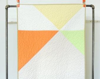 Modern Geometric Crib Quilt - Sherbet Pinwheel