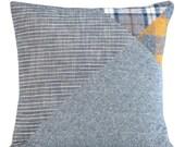 Flannel Wingtip 2 - modern decorative pillow in Linen/Flannel/Denim