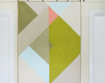 MODERN MINIMAL QUILT  for Baby or Wall or both - May 14 Geometric