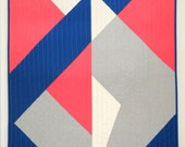 MODERN GEOMETRIC QUILT - for baby, pet, wall or throw - Modern 4th