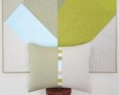 Modern Linen Lumbar Pillow - May 14 Triptych