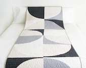Modern Quilt - Geometric Runner - The Grey Erwin