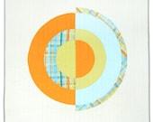 FALL SALE !  Modern Geometric Quilt - Summer Sonia