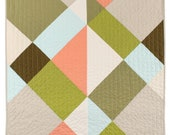 Modern Quilt - Color Block Quilt - Harlequin - October