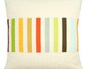 Striped Modern Throw Pillow - Picket (Multi)