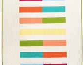 Modern Baby Quilt -  Rainbow Bricks Variation